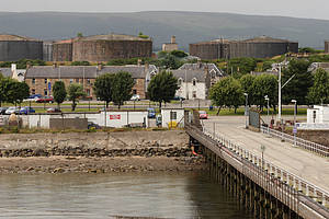 die Admiralty Pier in Invergordon
