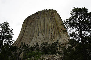 USA, Wyoming, Nationalpark, Devils Tower, Gestein, Steinschlag, Klettern, Indianer -> Devils Tower (USA)